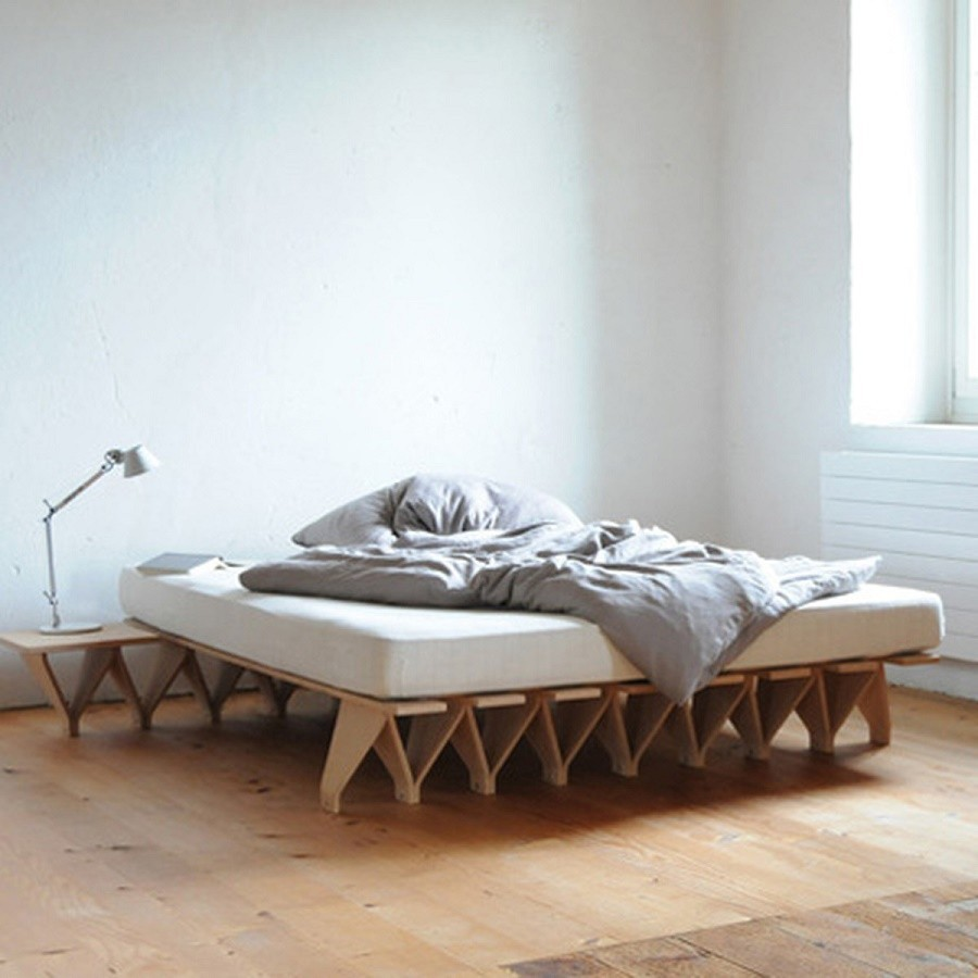 Eco bed design hout lieg