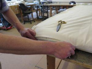 Natuurlatex matras gemaakt in kleine ambachtelijke beddenfabriek