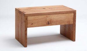 Handgemaakt nachtkastje NAPS massief hout met lade