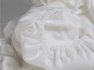 Hoeslaken flanel wit Yumeko pure white biologisch katoen