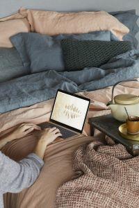 Katoenen plaid PAROS sprei van katoen 2 kleuren House in Style