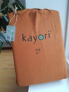 Kayori dekbedovertrek flanel Nagano oranje/bruin