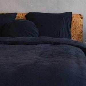 Kayori dekbedovertrek Zwart Izakaya washed tencel