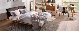 Massief houten design bed Swinq