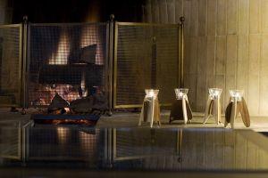 Waxinelicht hout en glas design waxinelichthouder GJAT