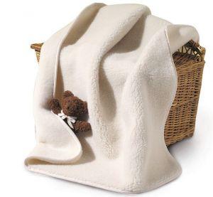 Wiegdeken  ledikant deken wollen 100% merino wol bio Prolana