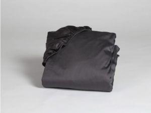 hoeslaken katoensatijn dark anthracite