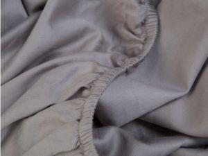 hoeslaken katoensatijn grijs - stone grey