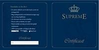 Certificaat Supreme dekbed